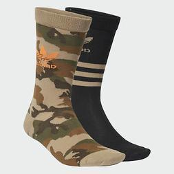 adidas Originals Camo Crew Socks 2 Pairs Men's