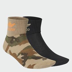 adidas Originals Camo Mid-Ankle Socks 2 Pairs Men's