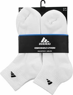 adidas Originals Men's Athletic Cushioned Quarter 6 Pack Whi