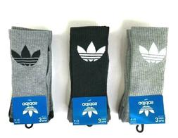 adidas Originals Men's Trefoil 3 Pairs Crew Socks Athletic R