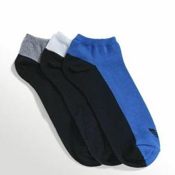 adidas Originals Unisex Trefoil Black Grey Blue White 3 Pair