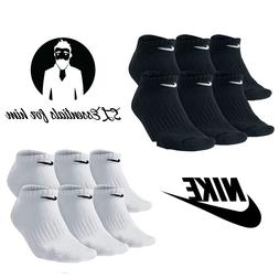 Nike Performance 6 Pair Cotton Cushioned NO SHOW Socks Men's
