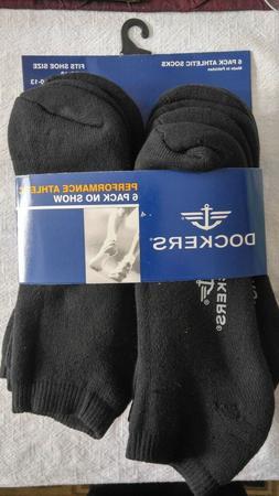 Dockers' Performance Athletic Men's Socks Black 6 Pair Packa