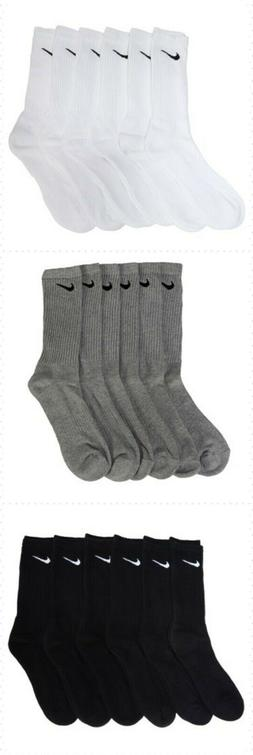 Nike Performance Cotton Cushioned Crew Socks Mens Black Whit