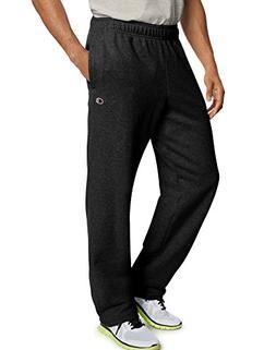 Champion Men's Powerblend Sweats Open Bottom Pants Oxford Gr