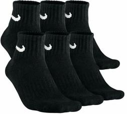 Nike 6 Pack Men's Large Quarter Socks