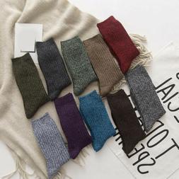 Retro Women Men Socks Winter Warm Thick Compression Hosiery