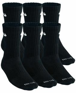 SALE NEW Nike Dri Fit Dry Fit Cotton Black/White Crew Socks