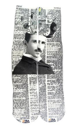 scientist nikola tesla dictionary print pop art