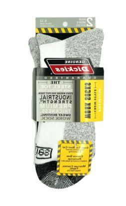 Dickies Men's Shin Crew Socks, 2 Pack