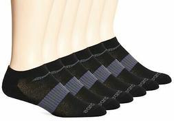 Saucony Mens 6 Pack Performance No Show Socks,Black,sock siz