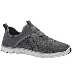 ALEADER Men's Slip-on Athletic Water Shoes All Grey 13 D US