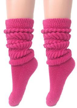 Slouch Socks Women and Men Extra Tall Heavy Socks 2 PAIRS Si