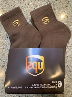 Ups socks 6 pairs ankle lenght brand new size 8-10 Ships S/D