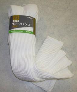 Gold Toe Men's Socks Cotton Over the Calf, 3 pair pack, Gold