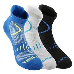 Fazitrip Unisex Running Socks 3 Pairs, Anti-Bacterium/Quick