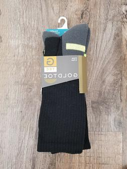 Gold Toe Men's Socks Super Sport Crew Black/Yellow 3pairs