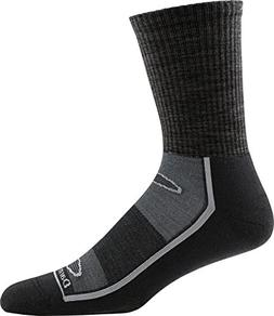 Darn Tough Solid Light Cushion Gym Sock - Men's Black X-Larg