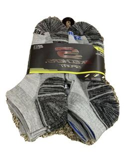 Skechers Sport 6 Pair Men's No Show Socks in Gray Size 10-13