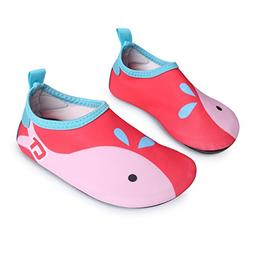 L-RUN Kids Swim Shoes Boys Girls Barefoot Skin Water Shoes A