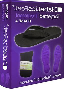 DiabeticsFeet Targeted Treatment Insoles, Socks and Flip Flo