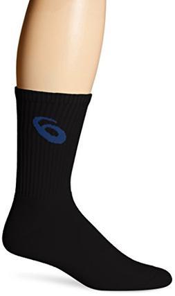 ASICS Team Crew Sock , Black/Royal, X-Large
