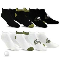 TeeHee Men's Golf Socks No Show Socks 6-Pairs Assorted