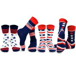 TeeHee Socks Mens Novelty Fashion Americana US USA Patriot P