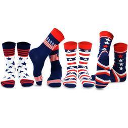 TeeHee Socks Mens Novelty Fashion Americana US USA Patriot P