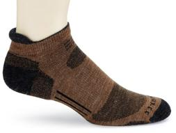 Carhartt Men's All Terrain Low Cut Tab Socks, Brown, 10-13 S