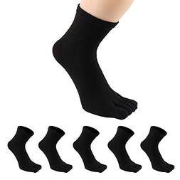 PACKGOUT #1 MENS 5 PAIRS TOE SOCKS Soft & Breathable Five Fi