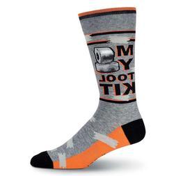 Tool Kit K Bell Men's Crew Socks Grey New Novelty Duct Tape