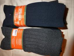 TWO Dockers Men's 5 Pack Classics Ribbed Dress Crew Socks,