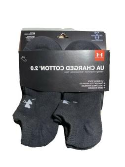 Under Armour UA Charged Cotton® 2.0 No Show 6-pack Men's Bl