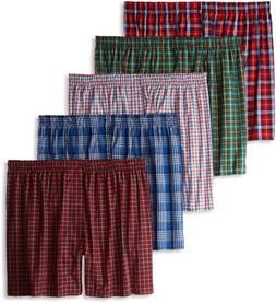 Hanes Men's Tartan Boxers with Comfort Flex Waistband 5-Pack