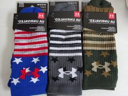 Under armour Men's Unrivaled Stars & Stripes Crew Socks NWT