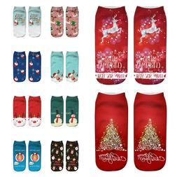 Unisex Christmas Funny 3D Fashion Printed Casual Sokken Leuk