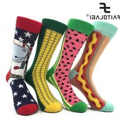 Unisex  Socks Men Cotton England Style Art Abstraction Funny