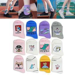 Unisex Women Men Cute Cartoon Cotton Socks Funny Harajuku No