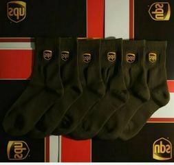UPS ANKLE SOCKS BRAND NEW MENS SZ LARGE 11-13 6 PACK