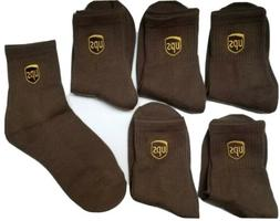 UPS Anklet Socks 6 Pairs Size M 8-10 SHIP FAST