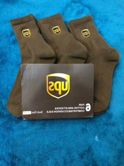 Ups Socks 6 Pairs Anklet Length Brand New Size L 11-13