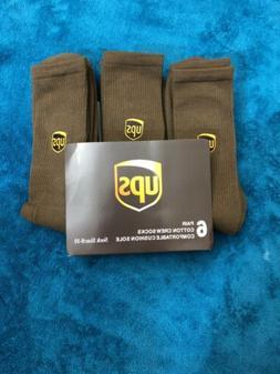 Ups socks 6 pairs crew length brand new size M 8-10