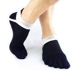 US Men Sports Socks Non Slip Pilates Massage 5 Toe Socks wit