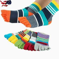 USA Stock 5 Pack Men Five Finger Toe Socks Cotton Casual Mul