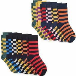 Variety Jacob Alexander College Stripe Dress Socks 6-pack