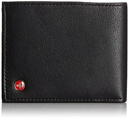 Alpine Swiss Mens Wallet Real Leather Bifold Trifold Hybrid