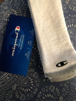 Champion White Mens Tube Socks Size 6-12 Single Pair NEW