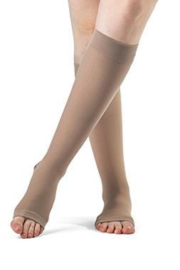 SIGVARIS Women's ACCESS 970 Open-Toe Calf High Medical Compr