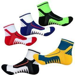 Womens Mens Ankle Socks Sport Running Cycling Crew Casual Bi